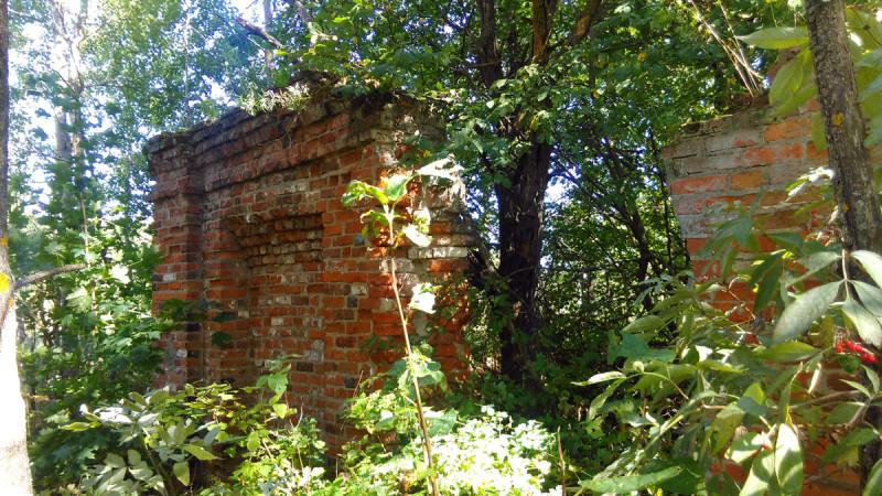 Рядом с башней руины небольшой постройки.