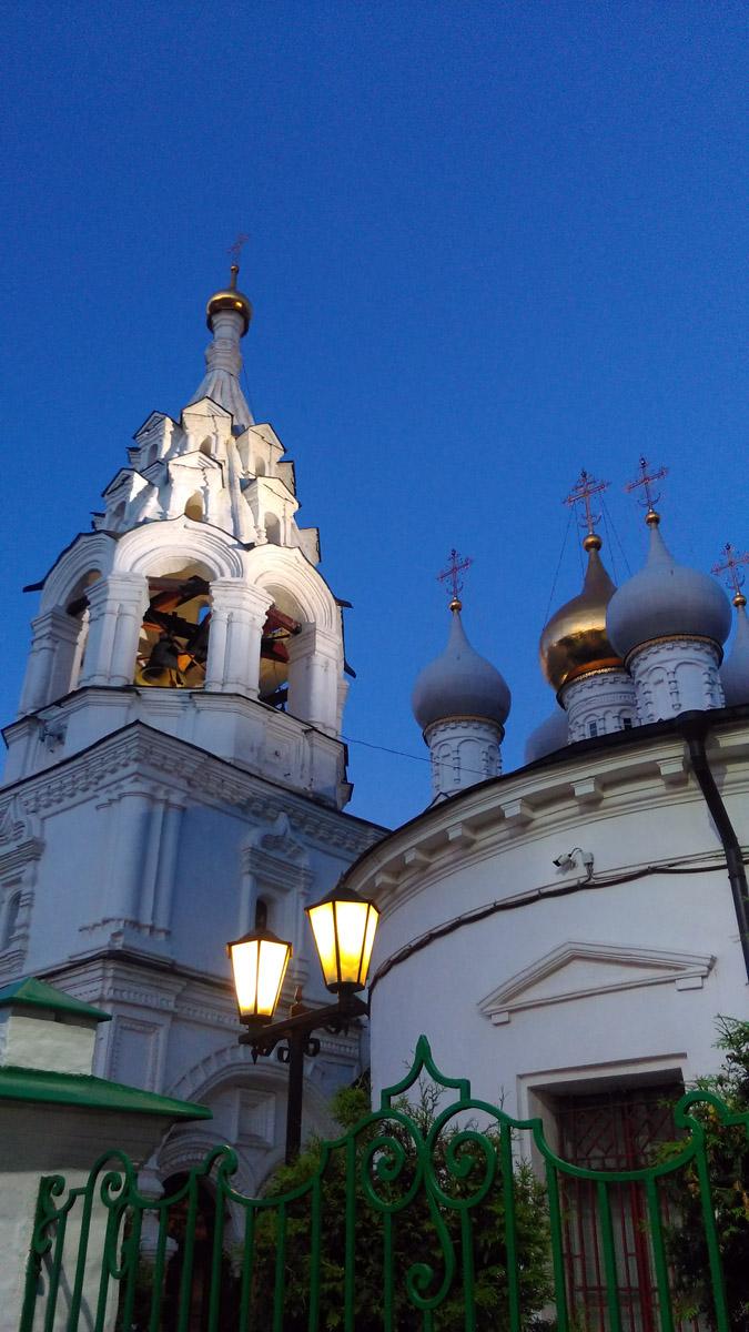 Снова вечерняя Москва. Храм святителя Николая Мирликийского в Пыжах.