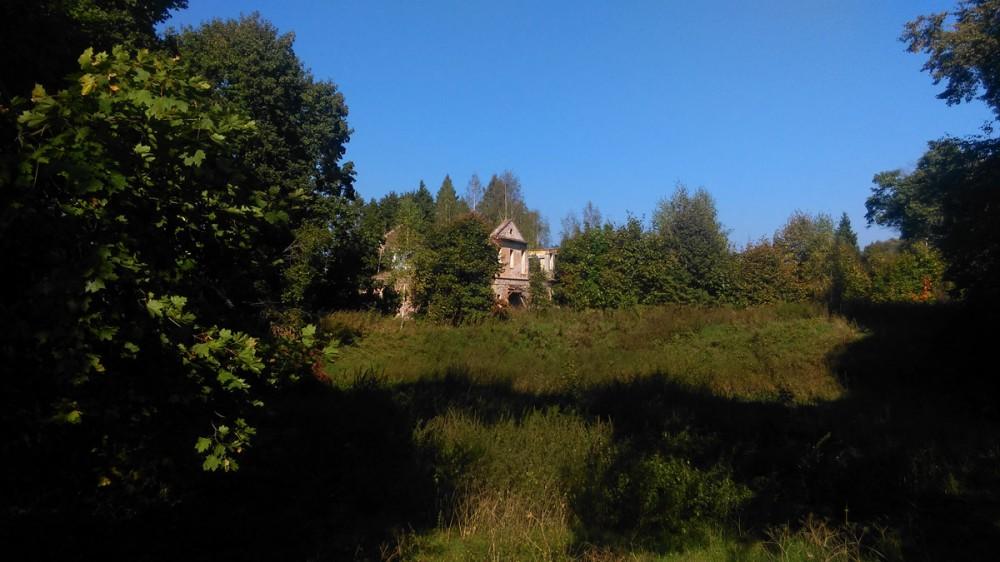 Руины главного дома усадьбы Троице-Лобаново