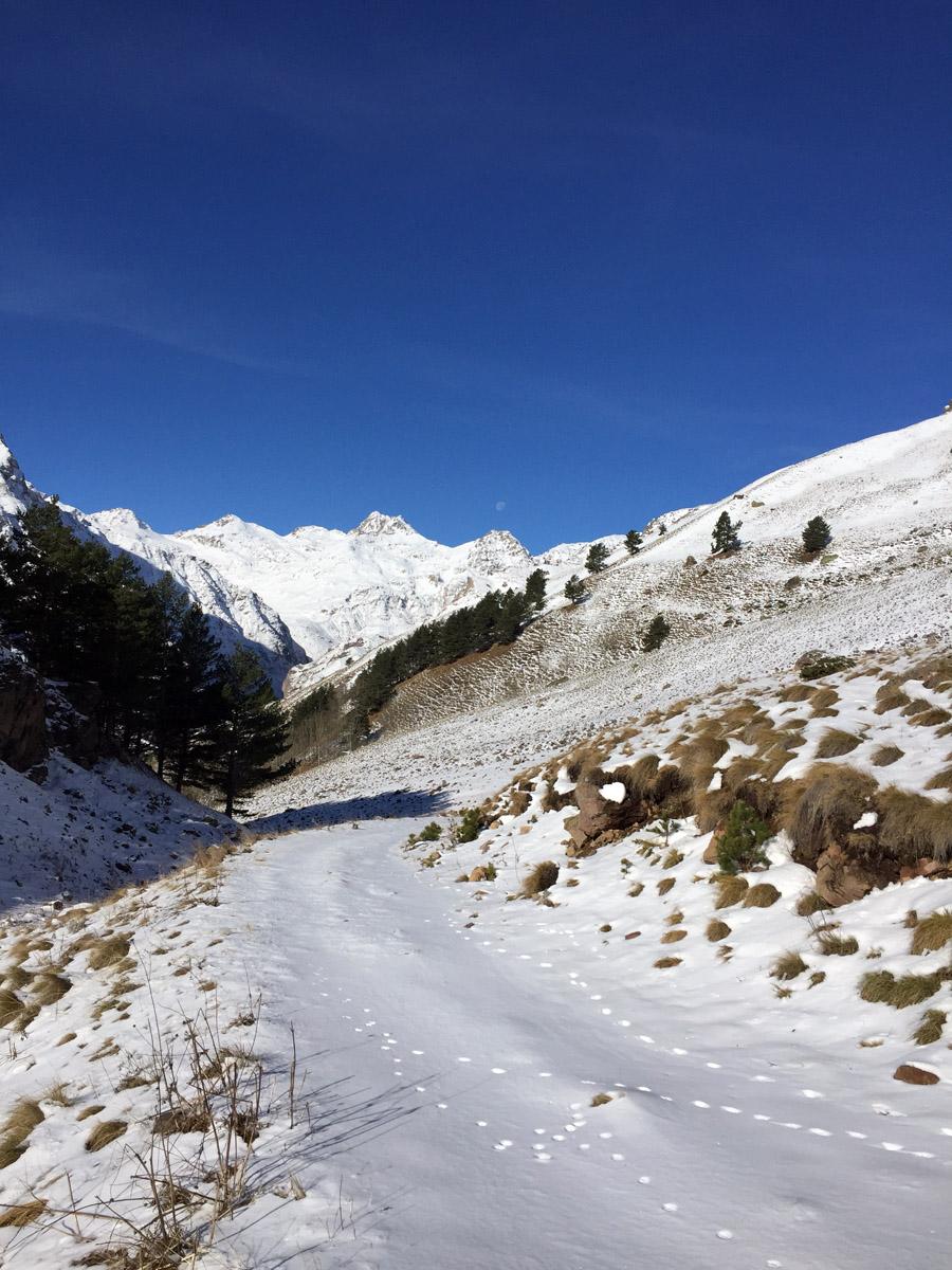 Если до этого снег лежал фрагментарно, то дальше он уже обосновался основательно.