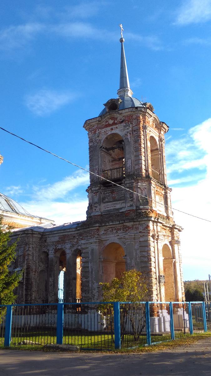 Сооружён в 1768 году тщанием местного помещика лейб-гвардии ротмистра Иакова Афанасьевича Татищева и освящён в честь праздника Рождества Пресвятой Богородицы.