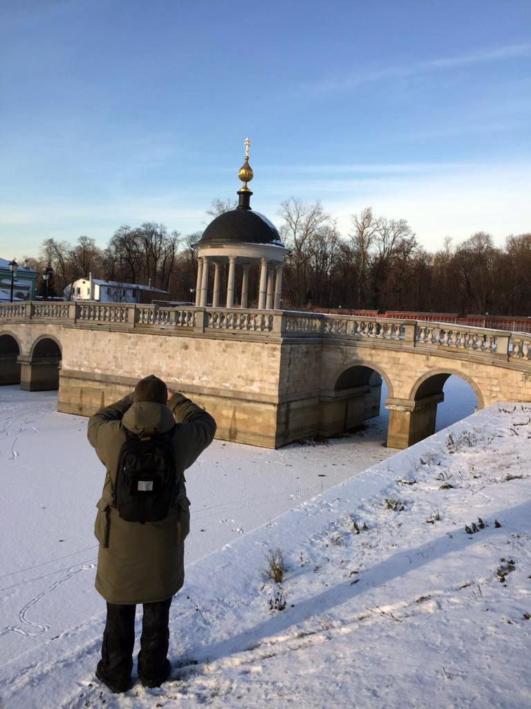 А вот первый день декабря выдался солнечным и морозным. С утра было минус 18. Пруды и Беседка-«Иордань» Рогожкой Слободы.