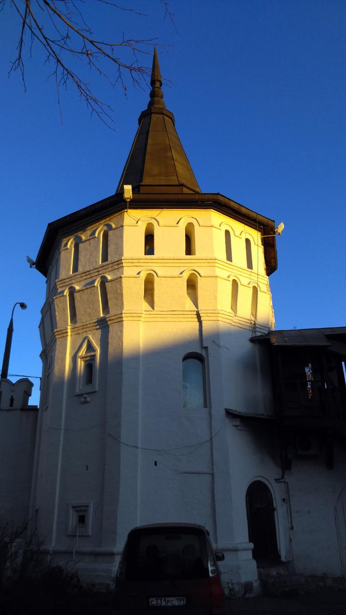 Нагорная башня Данилова монастыря. Башня была одной из наименее пострадавших во время пожара 1812 года.