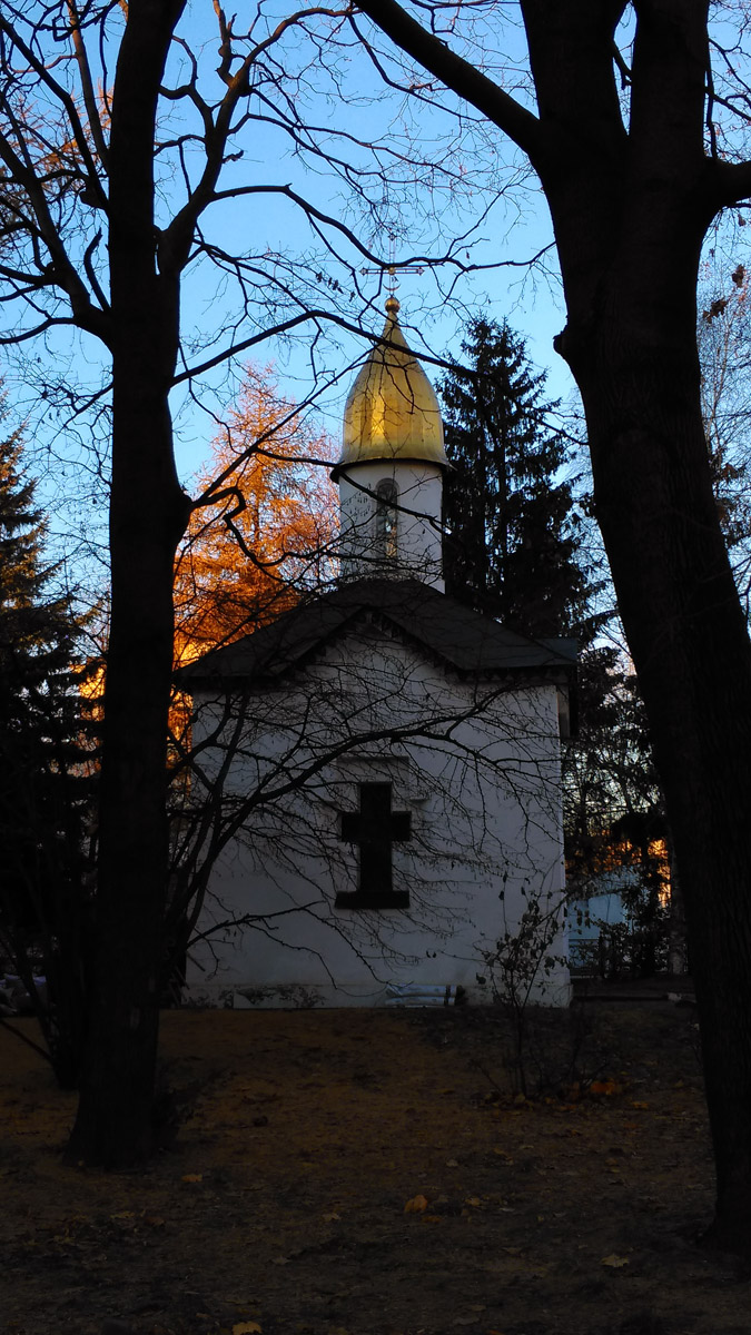 Поминальная часовня Данилова монастыря построена в 1988 г. под рук. арх. Ю.Г. Алонова.