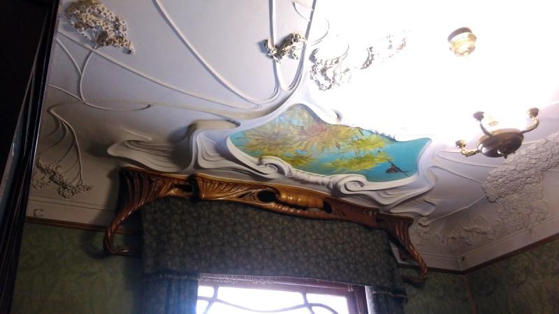 Потолок в парадной мужской гостиной Рябушинских, где гости играли в карты.