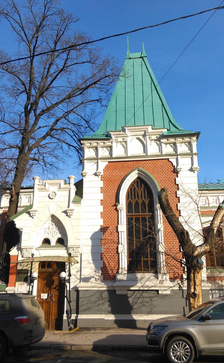 Бывший особняк А.А. Бахрушина.Построен в 1895—96 годах. Архитектор К.К. Гиппиус.