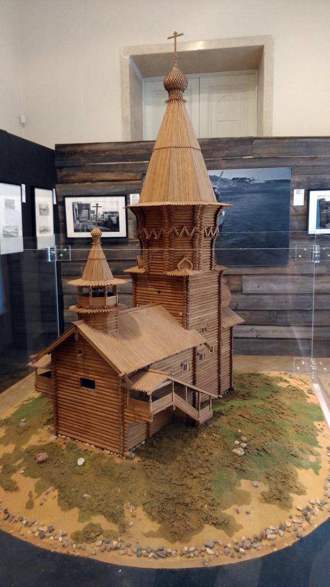 А вот, Успенскую церковь в Кондопоге теперь можно увидеть только в виде макета.... Оригинал сгорел в прошлом году.