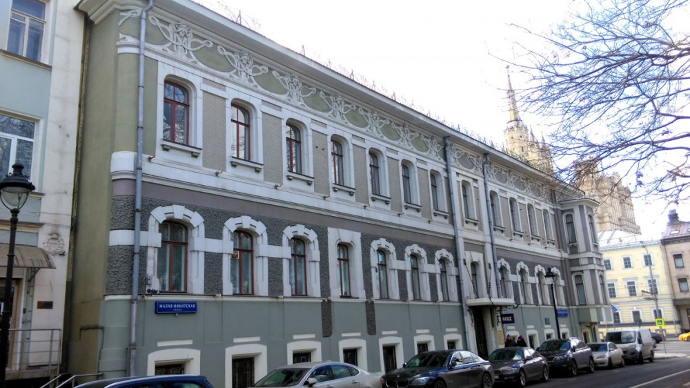 Бывший доходный дом Н. С. Кана. И снова не обошлось без Федора Осиповича Шехтеля.