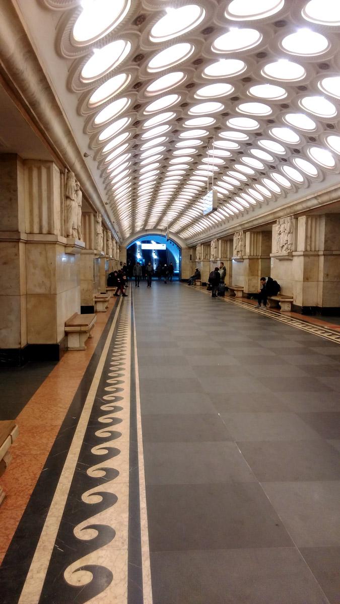 Завершение прогулки спустя четыре с половиной часа и 14км на станции Электрозаводская.