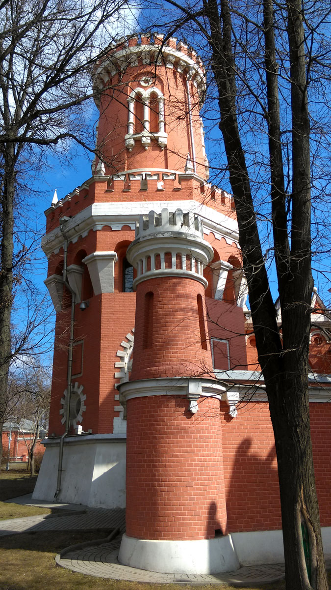 Башни Петровского путевого дворца.