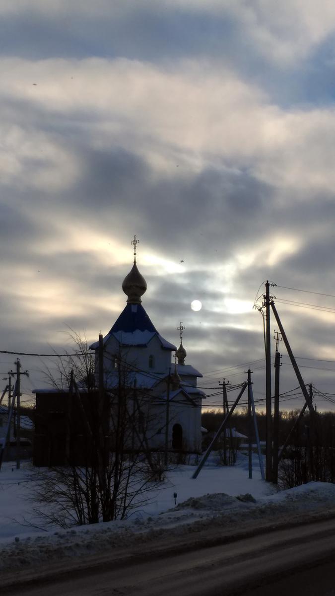 Современный храм иконы Божией Матери «Казанская» в селе Красный Путь.