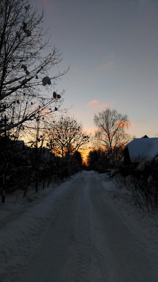 Январский закат... Заканчивается день и наш поход...