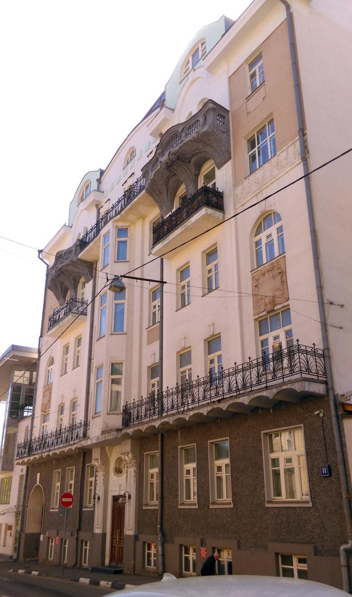 Доходный дом Е. Е. Констан. Шестиэтажное кирпичное административное здание.Построено в 1903-10 годах. Архитектор Ф. А. Когновицкий.
