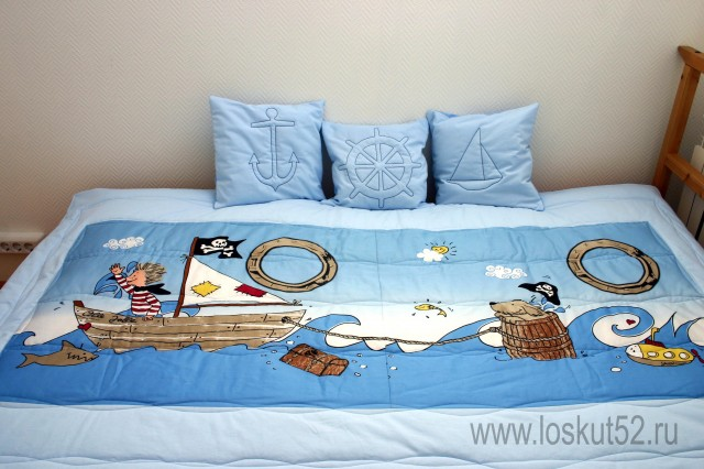Как сшить детское покрывало на кровать своими руками