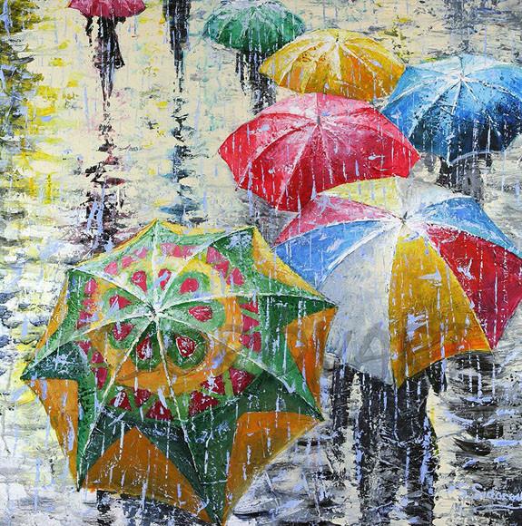 дождливые зонтики