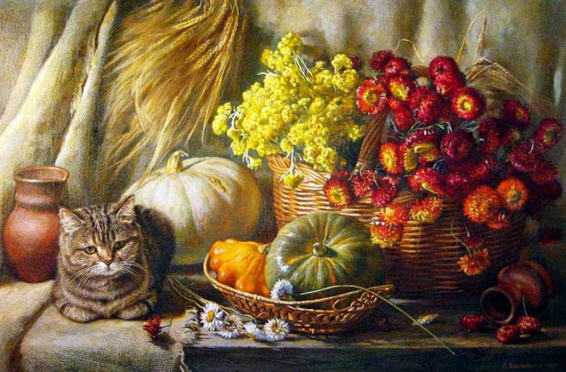 Калиновская Екатерина Михайловна - Украшение стола. Барсик.jpg
