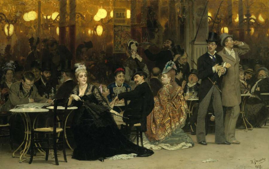 3-1-Илья РепинПарижское кафе - 1875.jpg