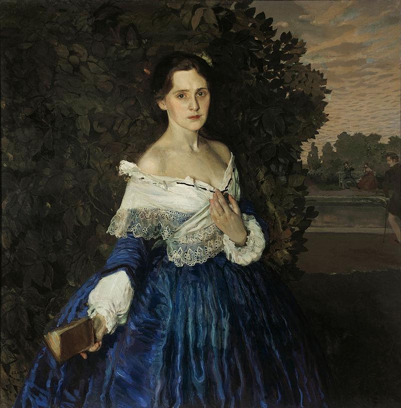 Константин Сомов - Дама в голубом Портрет Е М Мартыновой - 1897-1900.jpg