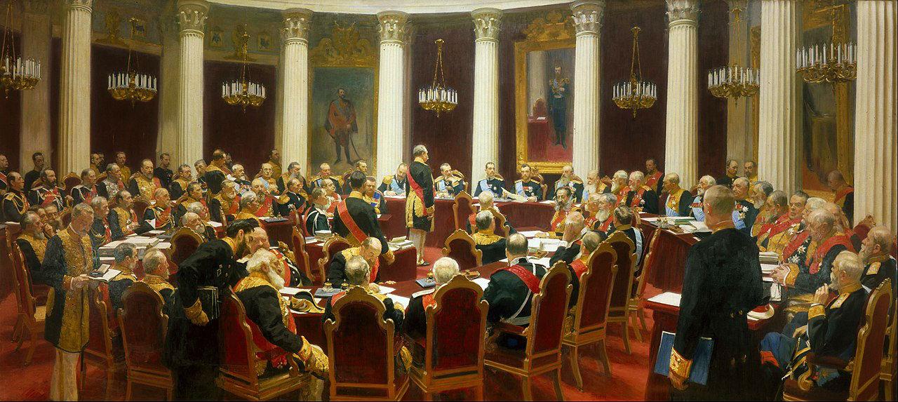 2-Илья Ефимович Репин - Заседание государственного совета 7 мая 1901 года в честь столетия со дня его учреждения - 1903.jpg