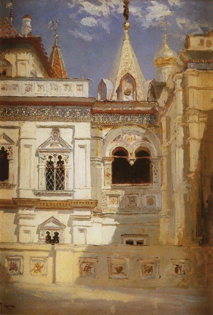 Василий Поленов - Теремной дворец Наружный вид - 1877.jpg