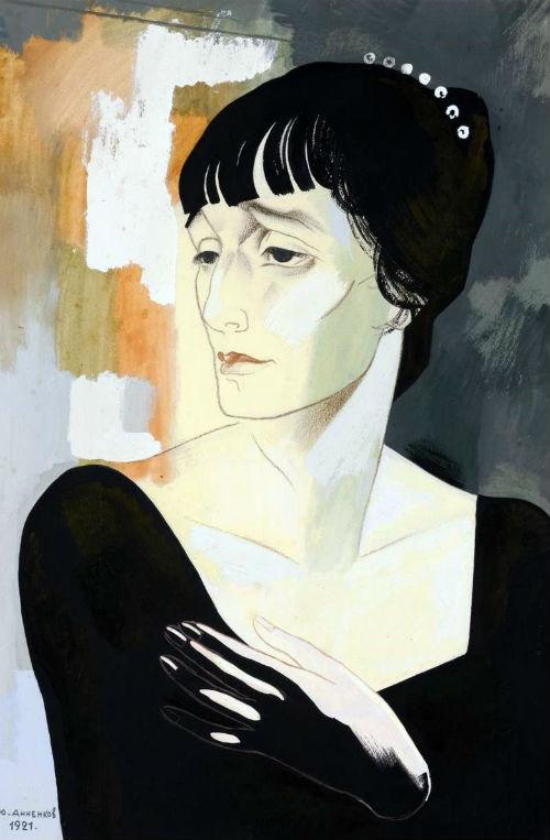2-Юрий Анненков - Портрет Ахматовой - 1921.jpg