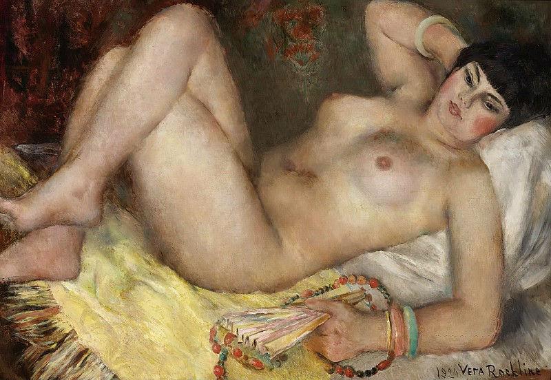 12-Вера Николаевна Рохлина - Молодая женщина с веером.jpg
