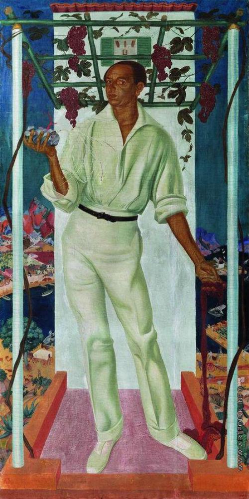 Александр Яковлев - Портрет мексиканского художника Роберто Монтенегро -  1915.jpg