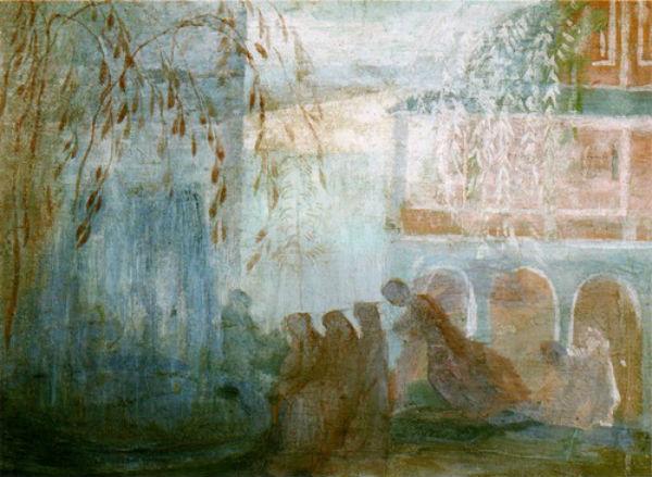 Павел Кузнецов - Фонтан-Этюд - 1904-1905.jpg