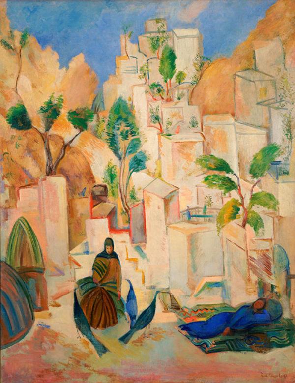 1-Павел Кузнецов - Восточный город - Бухара - 1912.jpg