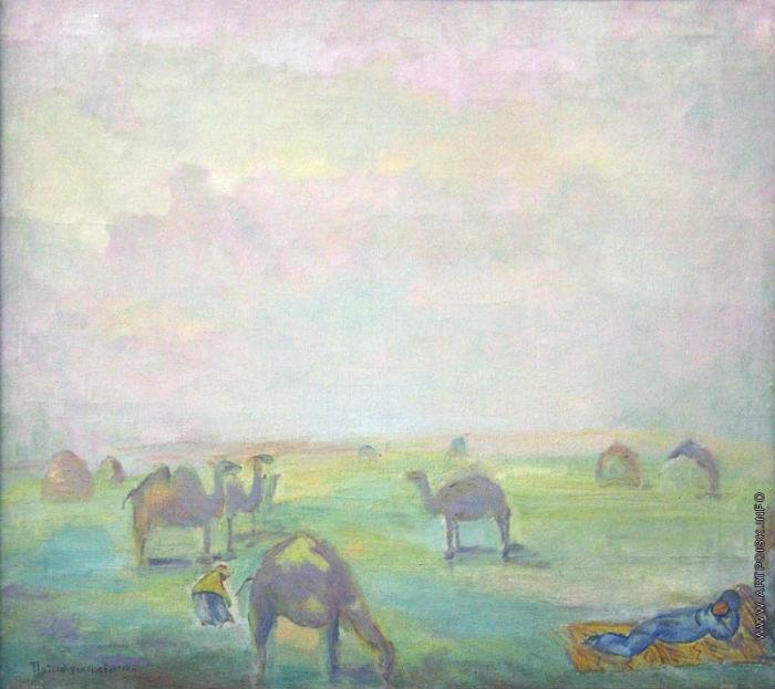 6-Павел Кузнецов - Утро в степи - 1910.jpg