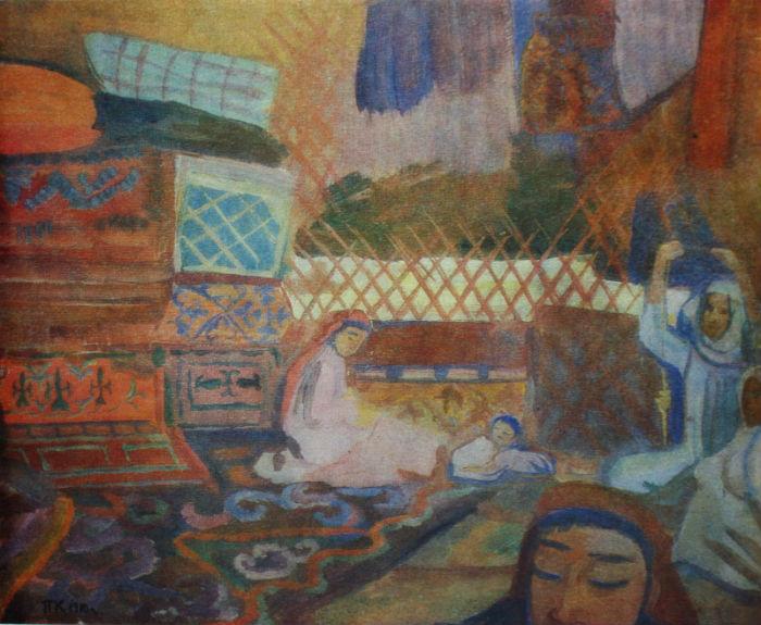 10-Павел Кузнецов - В кошаре - 1912.jpg
