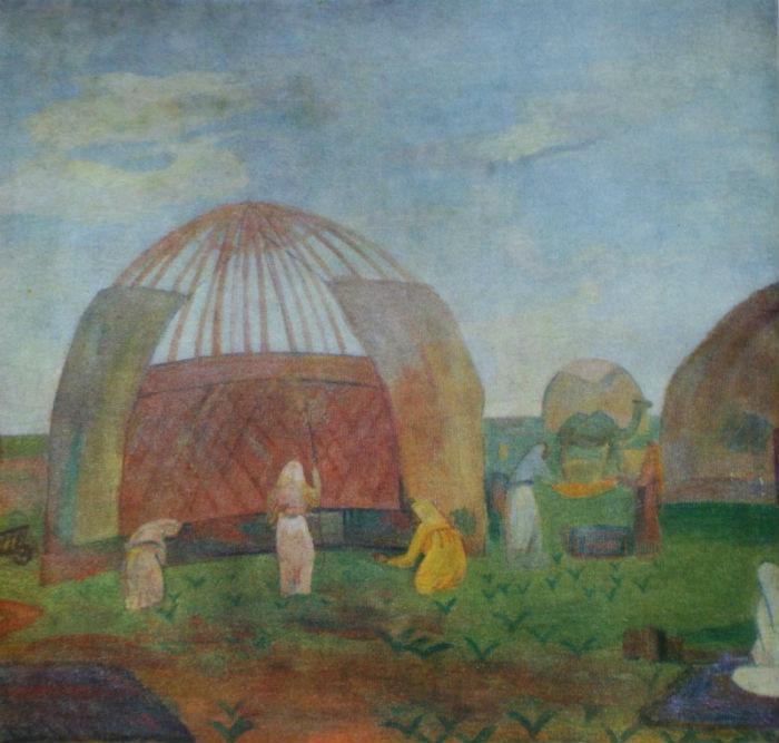 12-Павел Кузнецов - Устройство кошары - 1912.jpg