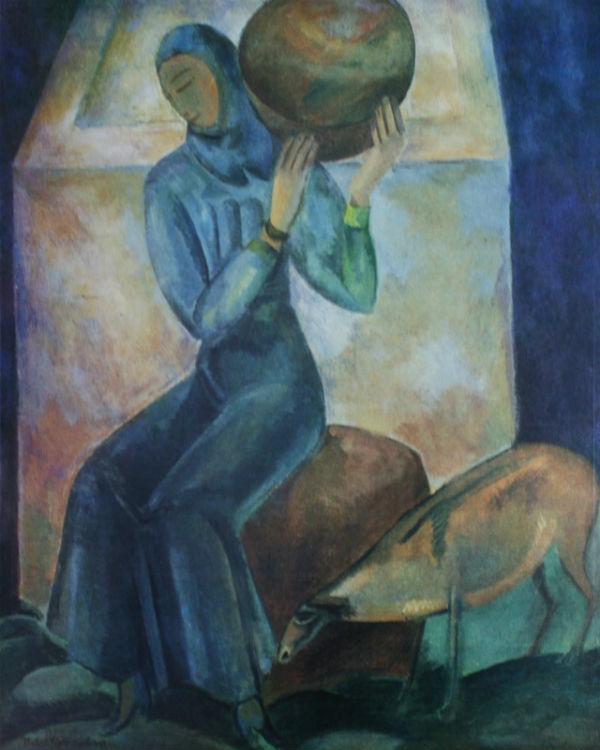 Павел Кузнецов - У водоёма Девушка с кувшином - 1920.jpg