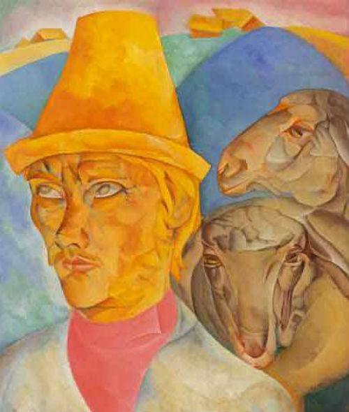1-Борис Григорьев - Пастух с холмов - 1920.jpg