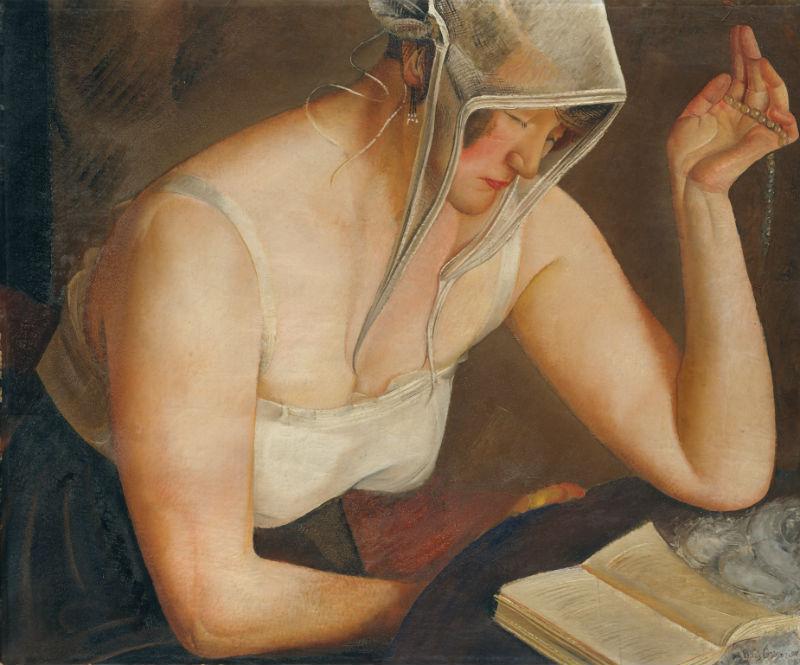 2-Борис Григорьев - Читающая женщина - 1912.jpg