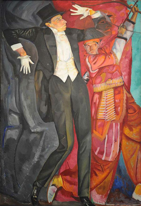 4-Борис Григорьев - Портрет Всеволода Мейерхольда - 1916.jpg