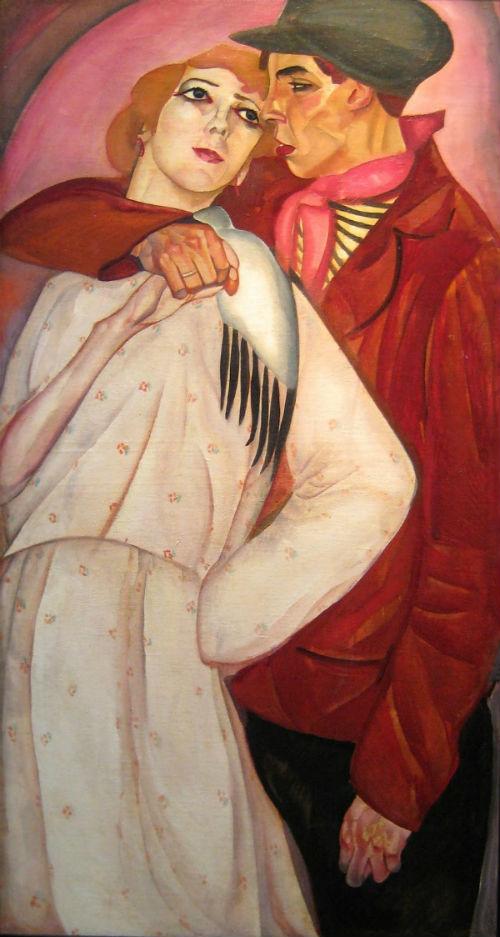 7-Борис Григорьев - Пара Жиган и проститутка - 1917.jpg
