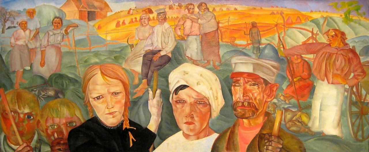 9-Борис Григорьев - Крестьянская земля (Земля народная) - 1917.jpg