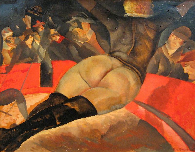 13-Борис Григорьев - В цирке - 1918.jpg