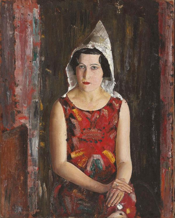 22-Борис Григорьев - Калифорнийская девушка - 1938.jpg