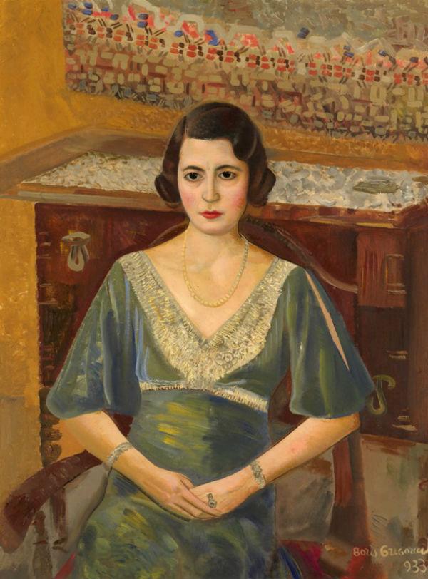 23-Борис Григорьев - Портрет дамы в зеленом платье.jpg