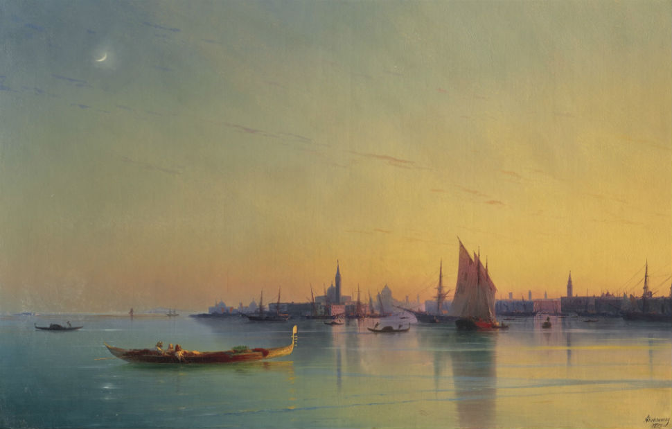 1-Иван Айвазовский - Закат в Венеции - 1873.jpg