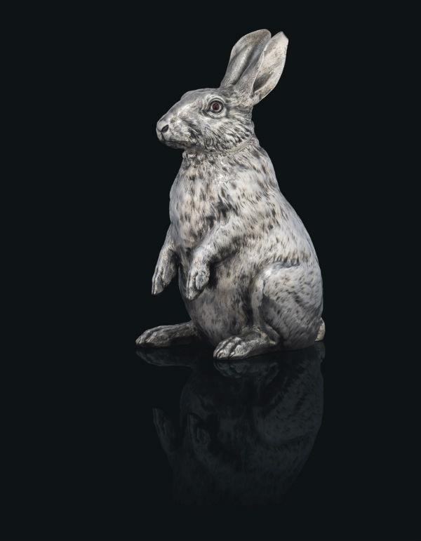 4-Серебряный кувшин в форме кролика - Фирма Фаберже - 1894.jpg