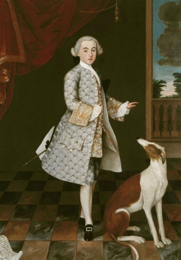 Неизвестный художник  - Портрет Франсиско де Оренсе и Моктесума графа Вильялобоса - 1761.jpg