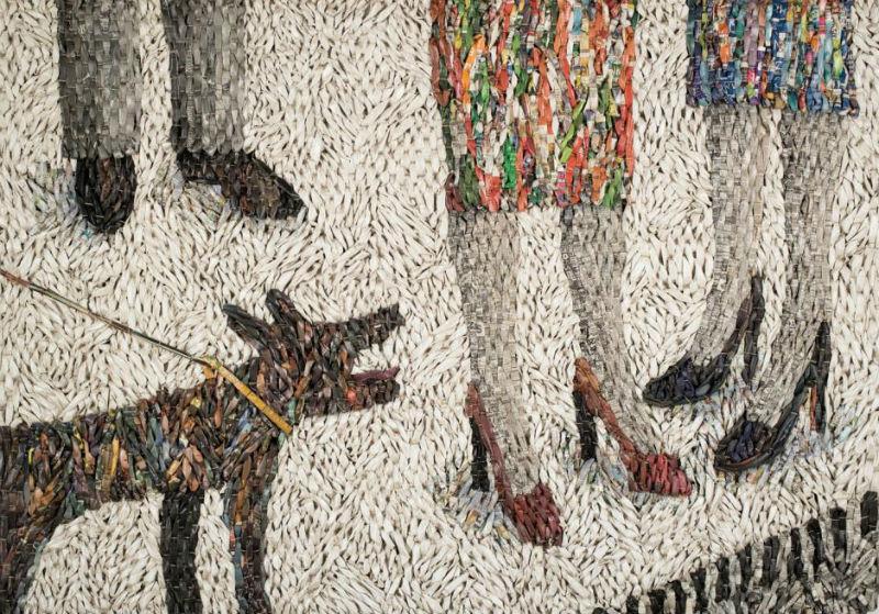 Гуггер Петтер - Собака лает на двух женщин -  2008.jpg