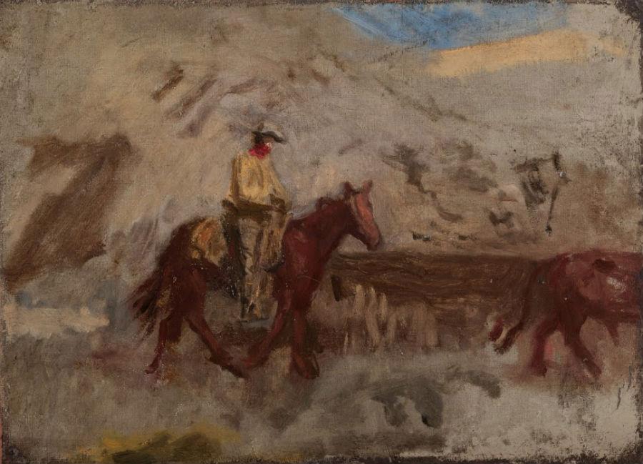 Томас Икинс - Ковбой за работой - эскиз (1886-1888).jpg