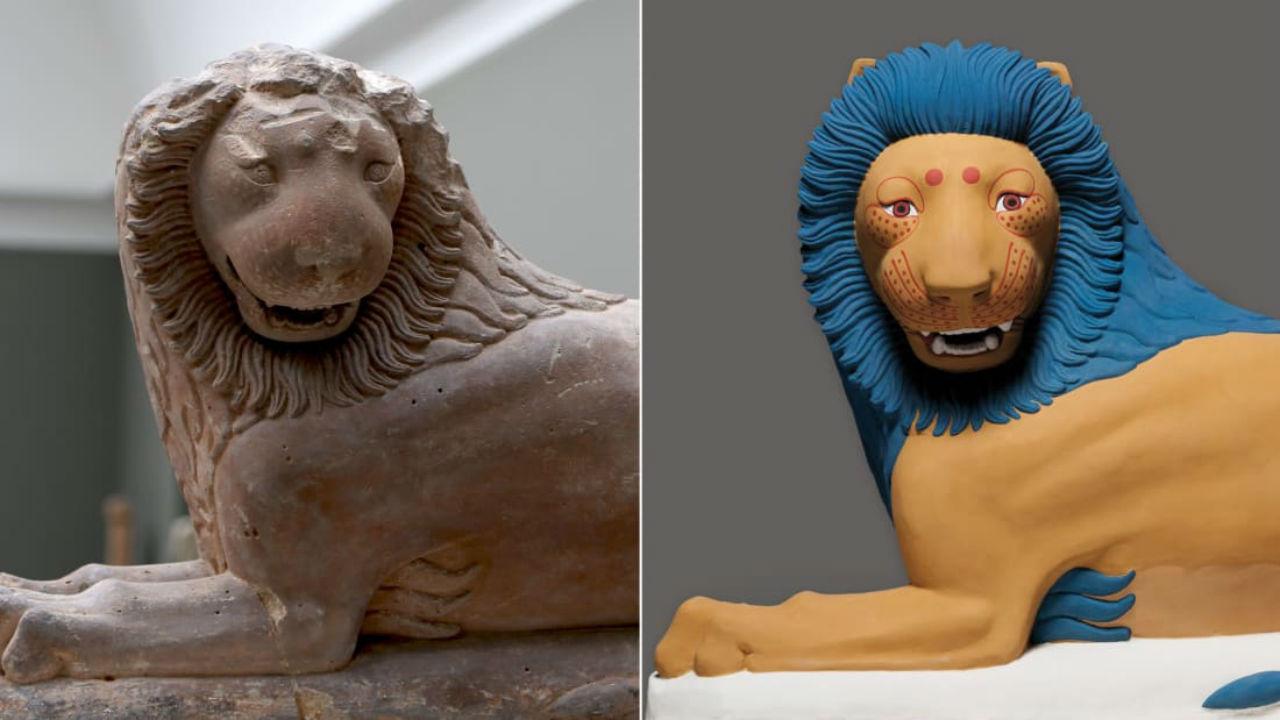 2-Лев из Лутраки - оригинал и реконструкция в цвете.jpg