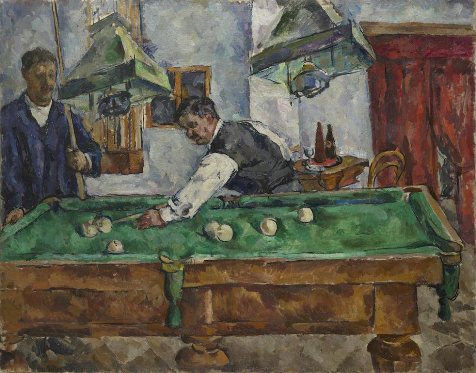 1-Петр Кончаловский - Игра на бильярде Аристарх Лентулов и Петр Кончаловский - 1918.jpg