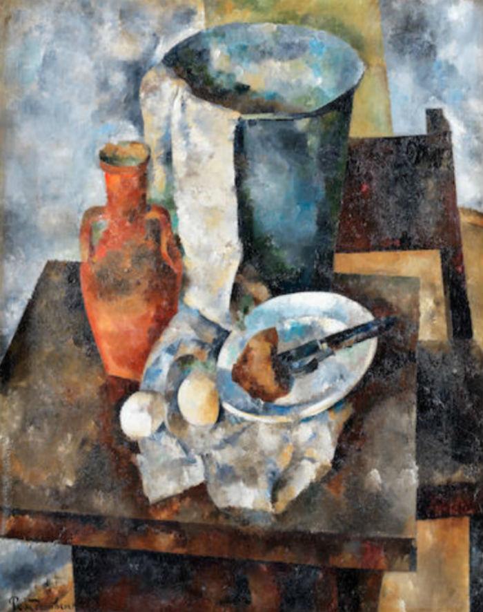 3-Василий Рождественский - Натюрморт с глиняным кувшином - 1921.jpg