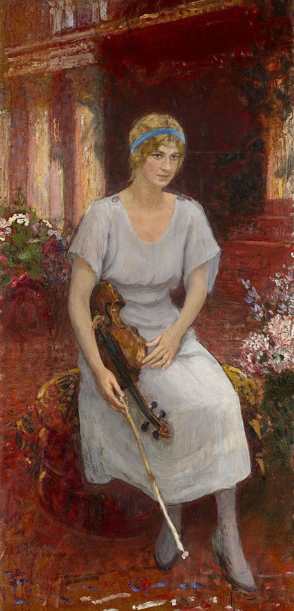 5-Илья Ефимович Репин - Портрет скрипачки Цецилии Ганзен.jpg